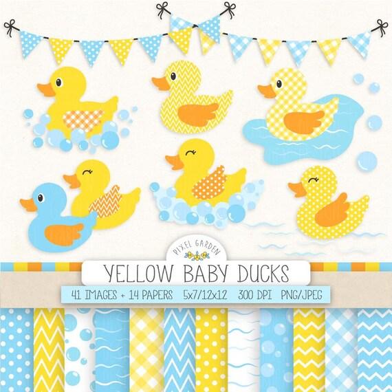 Baby Duck Clipart Yellow Rubber Duck Baby Shower Clip Art