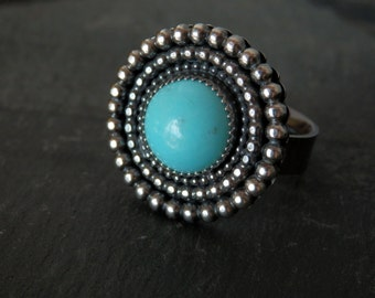 Turquoise ring / sterling turquoise ring / silver ring / turquoise jewelry / December birthstone / Sleeping Beauty turquoise / ready to ship