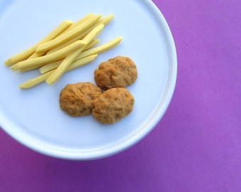 Chicken Nuggets and French Fries - Handmade Gourmet Doll Food For Your American Girl Doll