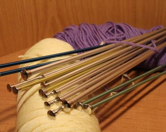 Boye Knitting Needles ~ Single Point ~ Variety of Colors & Sizes ~ Eight Pair for All Your Knitting Needs