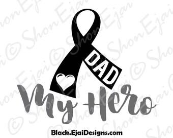 Skin Cancer Svg, Melanoma Svg, Black, Cancer Ribbon Svg, Cancer Svg, Awareness Svg, Awareness Ribbon Svg