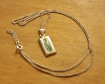 Hallmarked Abalone Sterling Silver 925 Necklace