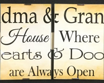 Signs with Quotes: Grandma and Grandpa