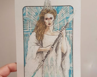Villain Clans Jadis the white witch (Chronicles of Narnia) - A6/A5/A4 print on acrylic paper