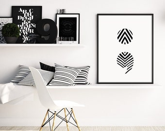 Semicolon print, minimalist print, Scandinavian print, black and white print, modern minimalist, modern decor, digital wall art, digital art