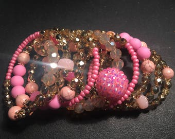 Tickled Pink Wrap Bracelet
