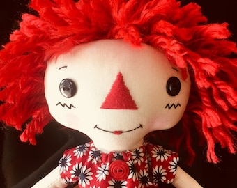 Annie - Rag Doll - Raggedy Ann - Cloth Doll