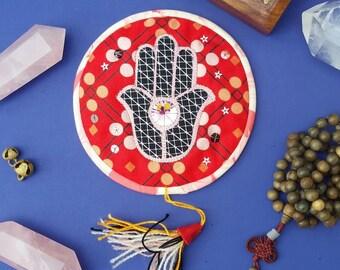 Altar Quilt - Prosperity Hamsa