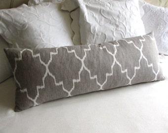 MONACO LINEN decorative designer pillow COVER 14x36