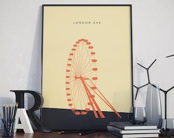 London Eye Print. Poster.
