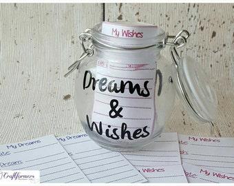 Keepsake Jar - Personalised Dreams & Wishes Storage Jar