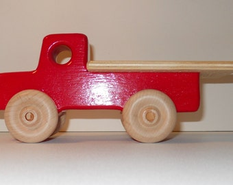 Toy Wooden Car Flat Bed Truck