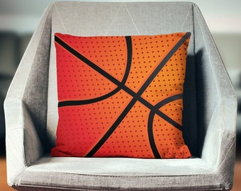 Basketball Pillow | Basketball Gift | Basketball Décor | Basketball Throw Pillow | Basketball Pillow Cover | Basketball Pillow Case
