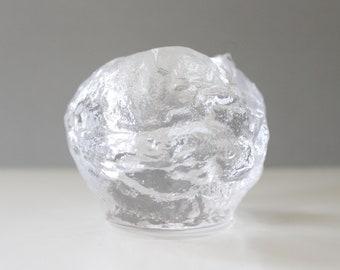 2 Available - Kosta Boda Snowball Glass Candle Holder Ann Warff