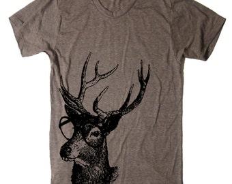 Buck Tooth Deer Tshirt - Reindeer Christmas Shirt Woodland - Women Graphic Tees - Mens Tshirt - Animal Shirts Gifts Geek Geekery Nerdy Nerd