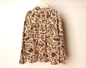 men's vintage CAMO faded HUNTING cruiser bomber field jacket