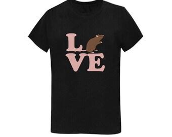 LOVE PHOENIX Women's Tee   A portion of proceeds go to Phoenix the Rat's Vet Care