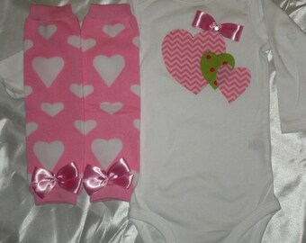 Baby Girl Outfit, Onesie and Leg Warmers, Children's Clothing, Toddler Clothing, 6 to 12 months