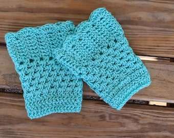 Boot toppers, crochet boot cuffs, boot cuffs, boot socks, blue boot cuffs, fancy boot cuffs, dressy boot cuffs