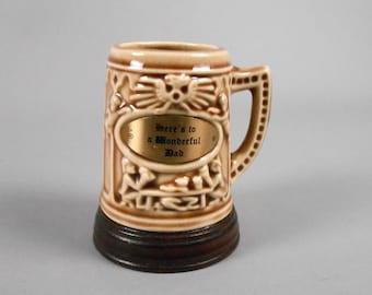 Wonderful Dad Hand Glazed Ceramic Mug 1950's Barware
