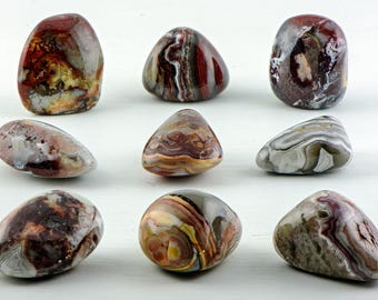 Red Crazy Lace Agate Tumbled Gemstone - Stone of Mother Earth