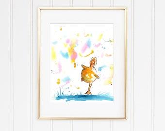 Duck Print, Nursery Print, Gender Neutral Nursery Art, Baby Shower Gift, Baby Duck Print, Cute Animal Art, Duck Wall Art, Baby Room Decor