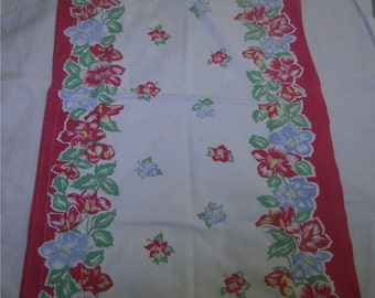 1950s PRINT KITCHEN T0WEL - Floral Parade