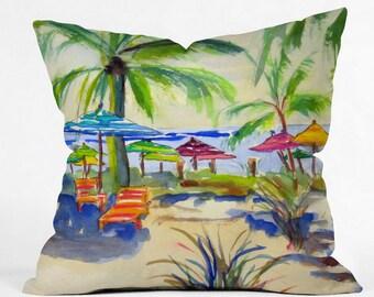 Caribbean Time Outdoor Throw Pillow