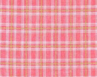 Clothworks Sunwashed Pink Plaid 30002-4