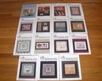 Vintage KINGSLAND Cross Stitch Patterns 25 plus Variety