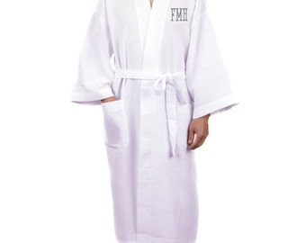 Personalized robes mens monogrammed customized monogram engraved custom bath groom bathrobes for men groomsmen boys wedding RR10891