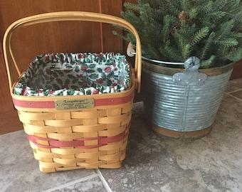 Longaberger Baskets-Christmas Collection 1995 Cranberry Basket