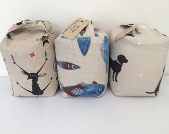 Fabric Doorstop - Crazy Cats, Catch of the Day or Labradors
