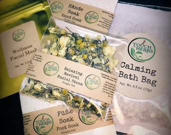 Bath & Beauty Gift Set - Spa Gift Set - Organic Gift Set  - Full Spa Treatment at Home