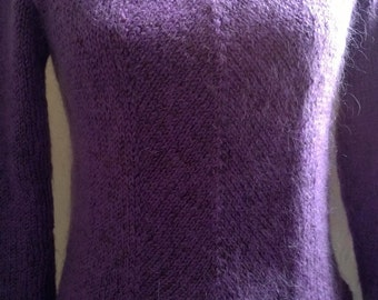 Mohair mauve sweater, size small