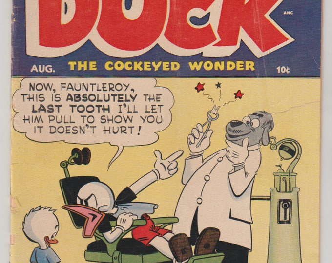 Super Duck Comics; Vol 1, 45, Golden Age Comic Book. VG- (3.5). August 1952. Archie Comic Publications