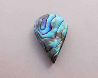 Abalone Shell drop cabochon 27x18mm