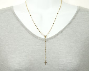 Gold Filled Rosary Necklace