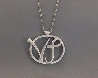 Capricorn Silver necklace - Zodiac Necklace - Artisian metalsmith pendant