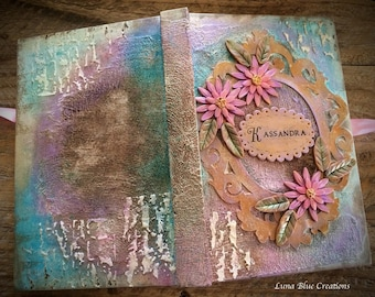 Personalized Mixed Media Sketchbook, Personalized Mixed Media Journal, Personalized Polymer clay Journal, Custom Sketchbook, Custom Journal