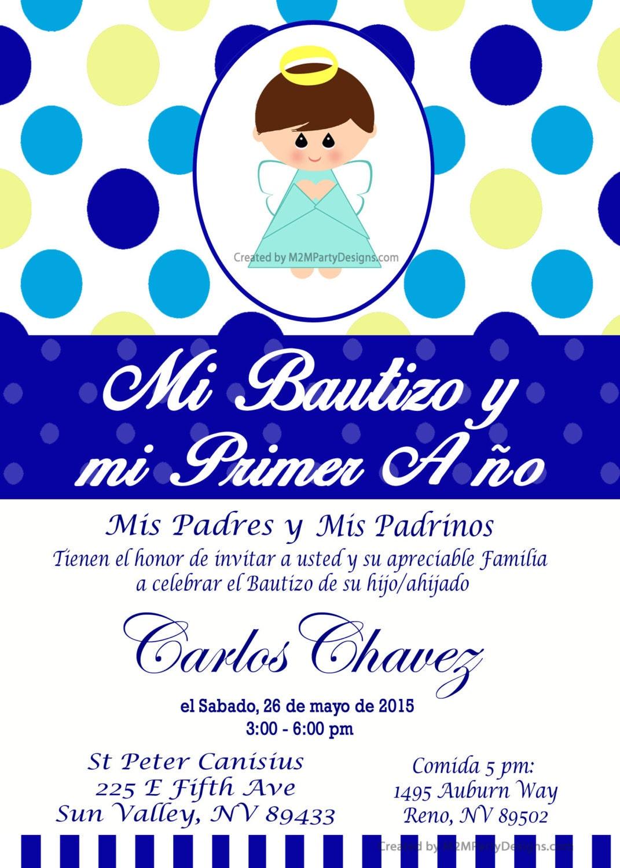 Tarjetas de bautizo y cumpleanos invitaciones de bautismo - Invitacion para cumpleanos ...