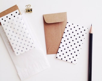 Polka Dot Mini Flat Cards & Minilopes