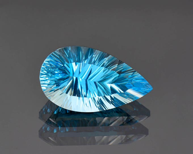Stunning Large Concave Cut Swiss Blue Topaz Gemstone from Brazil 25.02 cts.