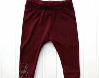 Basic Burgundy Leggings