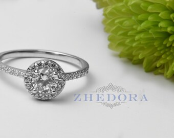 luxury cz wedding jewelry ring rings on spikecoral halo pinterest engagement emerald zirconia silver nickel free cut images sterling best cubic ct