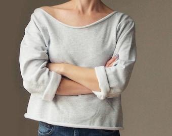 Off Shoulder Sweater Grey Off The Shoulder Off Shoulder Top Off Shoulder Oversized Sweater Slouchy Sweater Womens Sweater Sweatshirt Women