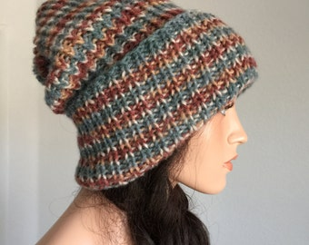 Winter Slouchy Beanie/ Hand Knitted Winter Beanie/ Slouchy Beanie/ Knit slouchy hat