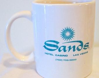 Vintage Sands Casino Coffee Mug with Green Logo Las Vegas