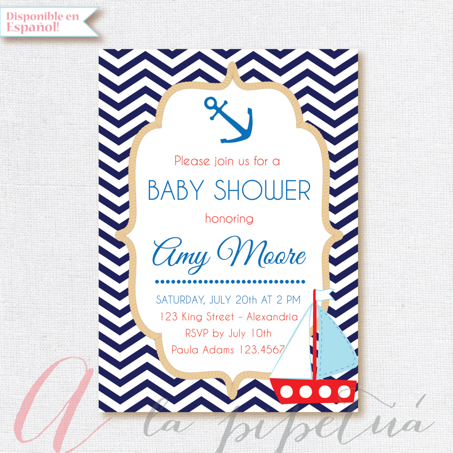 invitation nautical invitations diaper inserts blue theme for printable boy tickets baby shower navy products download raffle