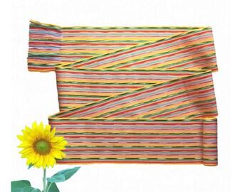 Zesty Yellow Sash, SA75 - Rainbow Belt - Ikat Fabric - Gypsy Clothing - Woven Belt - Guatemalan Textiles - Ethnic Sash - Bohemian Belt